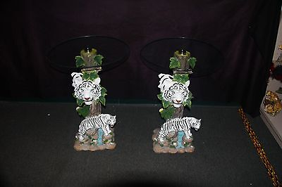 WHITE TIGER END TABLES THIS IS FOR 2PCS  ***A MUST SEE VERY RARE** NEW