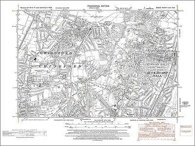 Old map Chingford, Buckhurst Hill, Woodford Green (N), Essex 1938 (69SW)