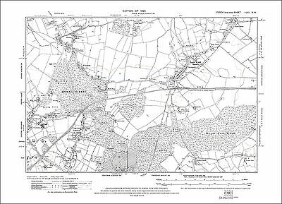 Old map Epping (NE), Epping Forest, North Weald Bassett, Essex 1923 (61NW)