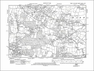 Old map Hadleigh, Eastwood, Southend(N), Rayleigh (S), Essex 1924 (82SE)