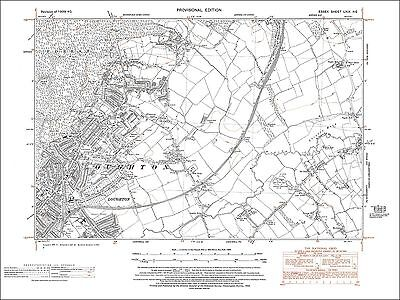 Old map Loughton, Debden Green, Essex 1940 (69NE)
