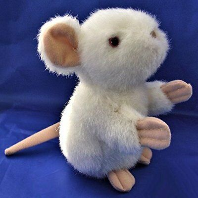 Small White 13cm Mouse Soft Toy - Plush Mouse