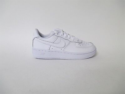 Nike Air Force 1 One Low ALL WHITE EVERYTHING PS Pre School Sz 11 314193-117