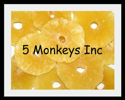 Pineapple Rings Dried ~ Dried Fruit Snacks ~ Treats Pineapples ~ 4 or 8 Ounces