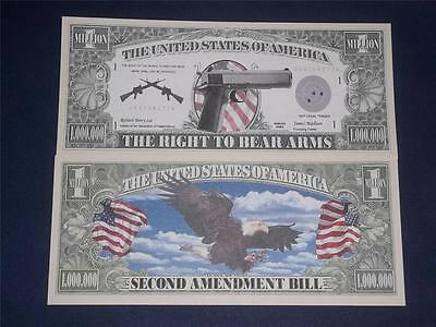 A $1,000,000 CRISP UNC U.S THE RIGHT TO BEAR ARMS NOTE!