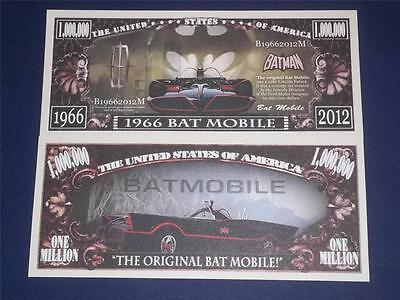 Beautiful  $1,000,000 Novelty Note Of1966 Bat Mobile Free Note Offer!