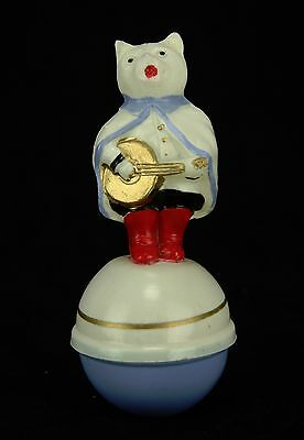Vintage German Celluloid Cat Roly Poly  ca1930