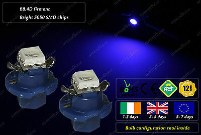 2x B8.4D LED Blue Dashboard Cluster HID Speedometer Bulbs Instrument Gauge Lamps