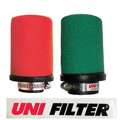 UNIFILTER Ø65mm STRAIGHT INLET POD AIR FILTER GREEN MOTORCYCLE MOTORBIKE QUADS