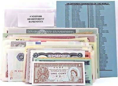 100 Different World Banknotes,Uncirculated Foreign Lot