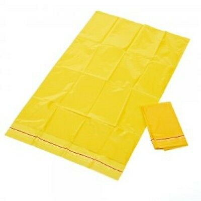 10 x Clinical Waste Bags - Self Sealing - Yellow Disposable