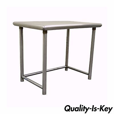 Vintage Industrial Stainless Steel Writing Desk Modern Kitchen Counter Table
