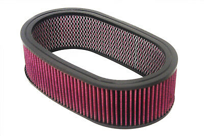 """15""""x 4"""" Oval Washable / Reusable Air Filter Pro Street Rod Hot Rod Air Cleaner"""