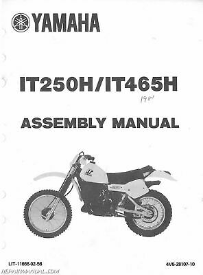 1981 Yamaha IT250H And IT465H Assembly Manual