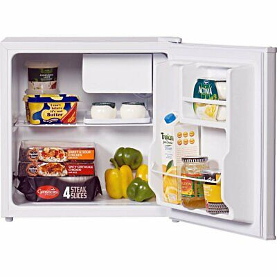 LEC R50052W Free Standing Table Top Fridge (with icebox) in White 'A+' compact