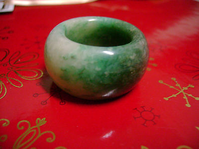 QUALITY THICK NATURAL  GREEN JADE RING