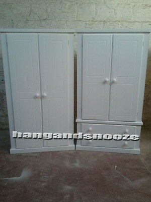 Hand Made Dewsbury Furniture X2 Wardrobes White (Assembled)