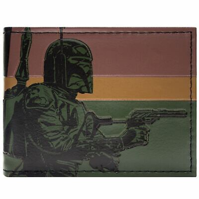 New Official Awesome Star Wars Boba Fett Rogue Assassin Bi-Fold Wallet
