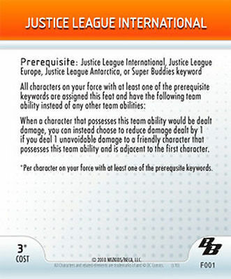 Heroclix Justice League International DC Brave and the Bold F001 Feat 001