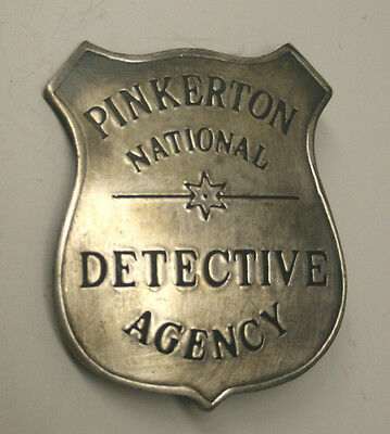 Reproduced Old Time    Pinkerton National Detective Badge    Shield Style