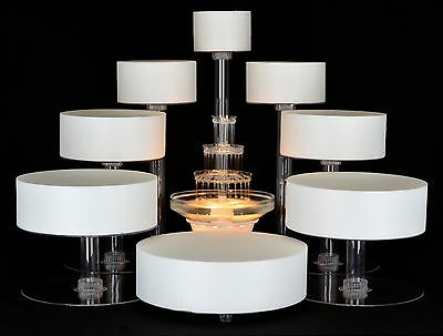 8 TIER CASCADE WEDDING CAKE STAND