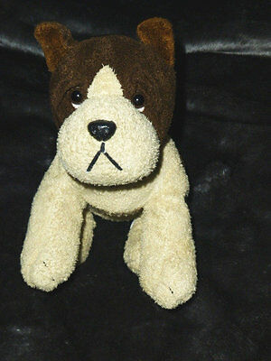 "RUSS DOG ""YAPPER"" BROWN CREAM CHAMOIS PLUSH TOY 10"" EXC COND"
