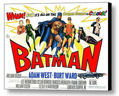 1966 Framed Batman 9X12 Vintage Movie Poster Comic restored XTRA-Color Adam West