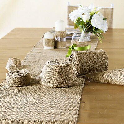 10X Hessian Table Runner Rustic Burlap Wedding Party Table Vintage Shabby Chic