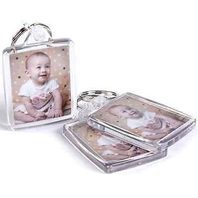 PERSONALISED YOUR PHOTO DOUBLE SIDED 45x35 KEYRING GIFTS CUSTOM ANY TEXT