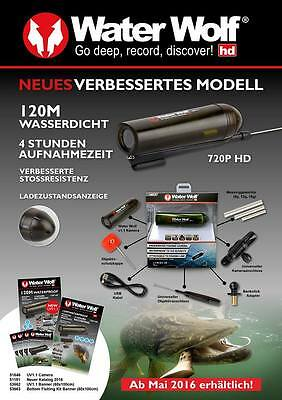 Waterwolf 1.1 Unterwasserkamera Water Wolf 4h HD filmen Actioncam max. 32Gb