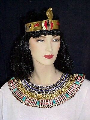 Halloween Costume LUCK Scarabs Amethyst Red Large Cleopatra Necklace