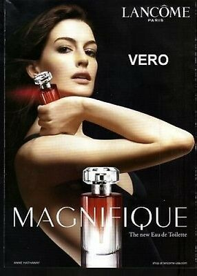 2009 magazine ad Lancome MAGNIFIQUE FRAGRANCE PARFUM open + sniff advertisement