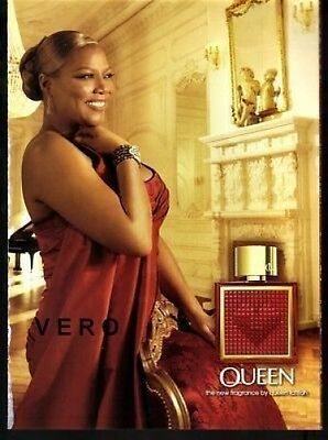 2009 magazine ad QUEEN by queen latifah FRAGRANCE PARFUM open and sniff