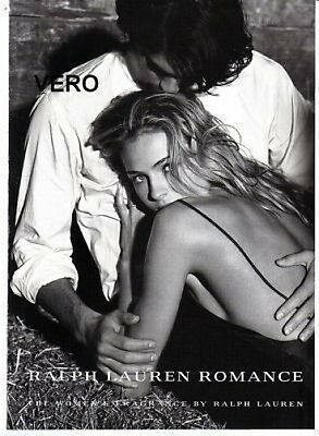 2009 magazine ad Ralph Lauren ROMANCE FRAGRANCE PARFUM open and sniff