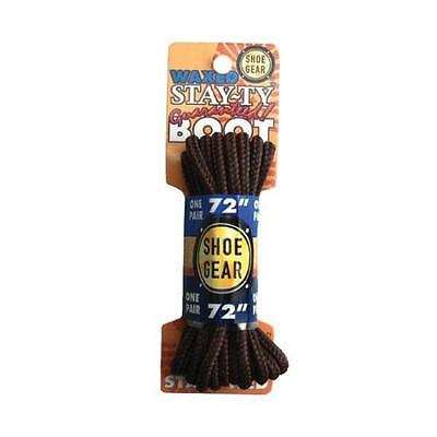 Brown Waxed Boot Laces 72''- Wax Finish Keeps Laces Securely Tied All Day Long