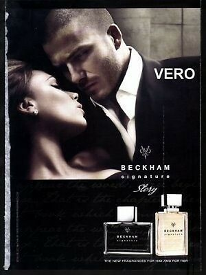 2009 magazine ad BECKHAM signature story FRAGRANCE PERFUME open and sniff
