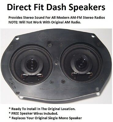 Stereo Dash Replacement Speaker for Modern Radios Dual Sound Left & Right SC06-B