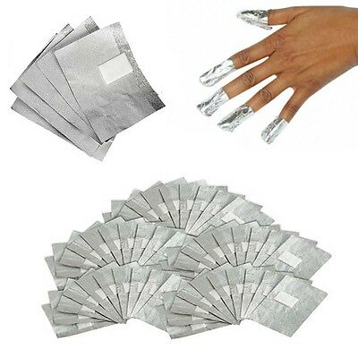 100 x Polish Nail Art Removers Foil Wraps Soak Off Gel Acrylic Shellac UK Seller