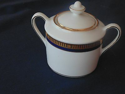 Bernardaud Madison Blue Sugar Bowl with Lid