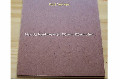 1 X MASONITE BOARD 250mm x 220mm x 3mm CAKE BOARD, MOSAIC TILING, CRAFT PROJECT