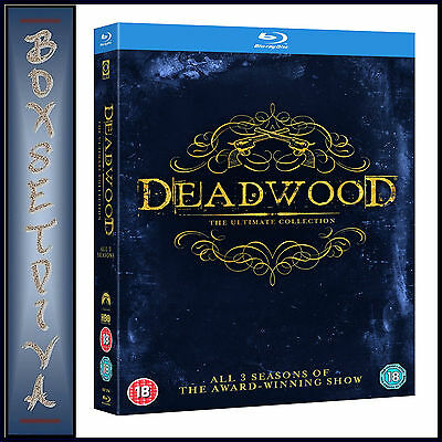 Deadwood - The Complete Collection - Seasons 1 2 & 3**brand New Blu-Ray Boxset**