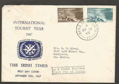 Ireland Internal F D Cover 1967 w 2 Colour Stamps L@@K