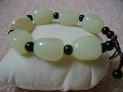CHINESE NATURAL WHITE JADE  BRACELET