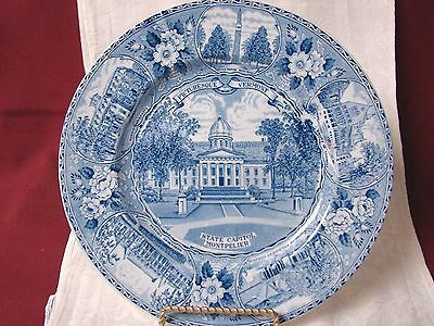 Alfred Meakin Old English Staffordshire blue Transferwar Vermont State Capitol