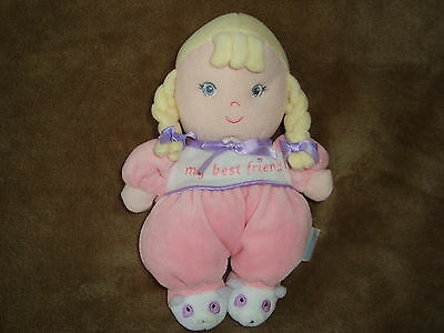 "Garanimals  My Best Friend Doll Baby Rattle 8"" tall Blonde"