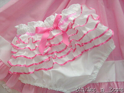 Adult Baby Sissy Dress Up - PRETTY PINK Diaper Cover ~With or W/out PUL Lining
