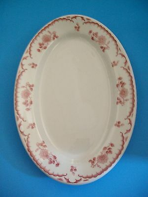 SHENANGO CHINA RARE 9 1/2'' OVAL PLATTER CHARDON ROSE PATTERN 1950