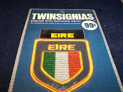 Vintage Twinsignia Eire Emblem Patch, Lot of 5, New