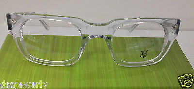 Victory Optical Boz-221 Col CRY Crystal Plastic Eyeglasses Frame New Authentic