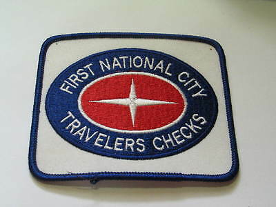 First National City Travelers Checks Patch (#2089)